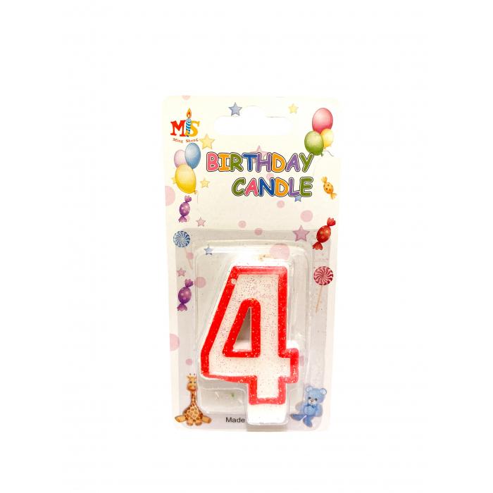 Свещичка за торта Цифра 4