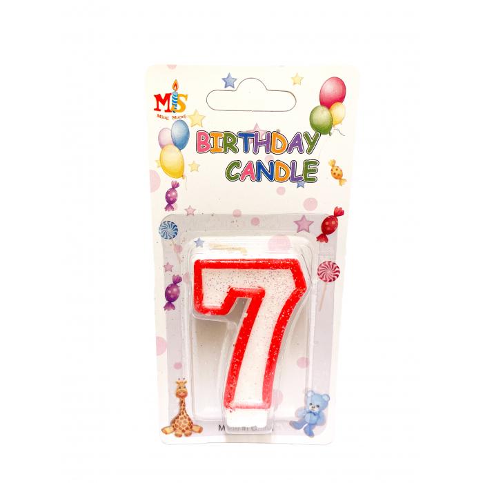 Свещичка за торта Цифра 7