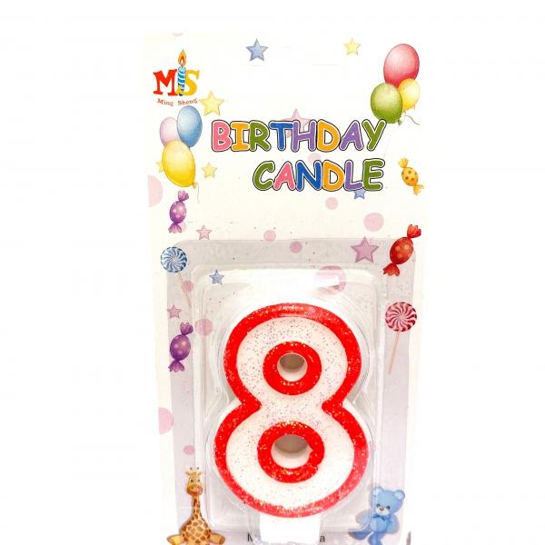 Свещичка за торта Цифра 8