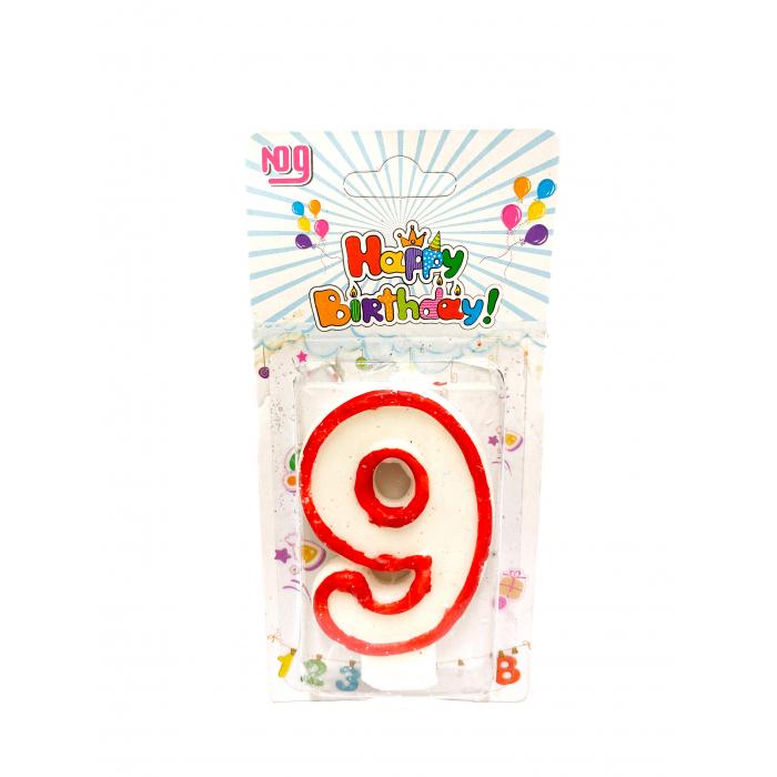 Свещичка за торта Цифра 9