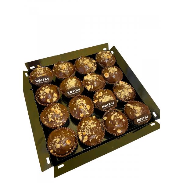Кутия мини къпкейк шоколад