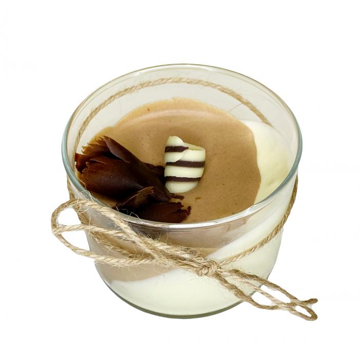 Мус с бял и натурален шоколад